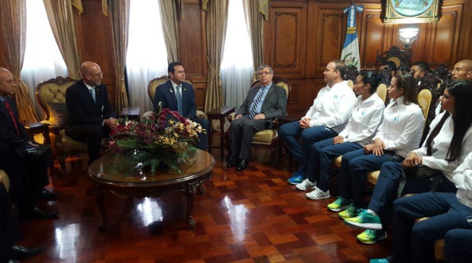 Cabrera compartió su experiencia con los atletas olímpicos. (Foto: Presidencia)