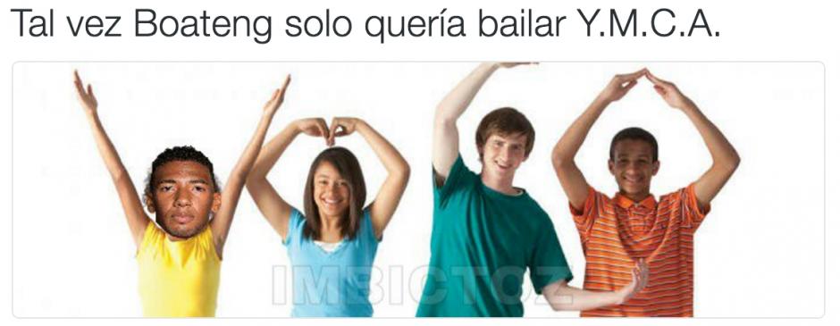 Boateng desató un sinfín de memes en las redes sociales. (Foto: Twitter)