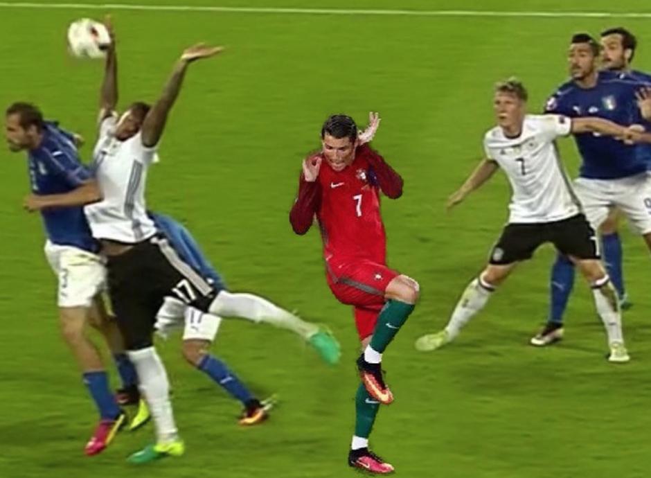 Cristiano Ronaldo también salió a bailar en los memes de Boateng. (Foto: Twitter)