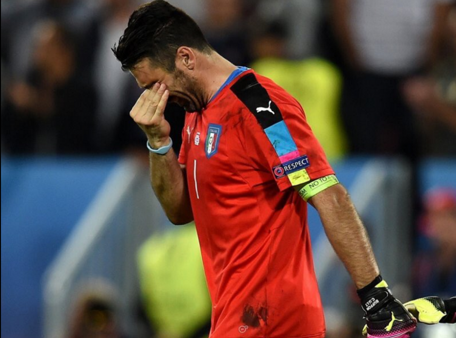 Buffon pudo haber disputado su último partido en Eurocopas tras haber anunciado que se retirará en 2018. (Foto: Agencias)