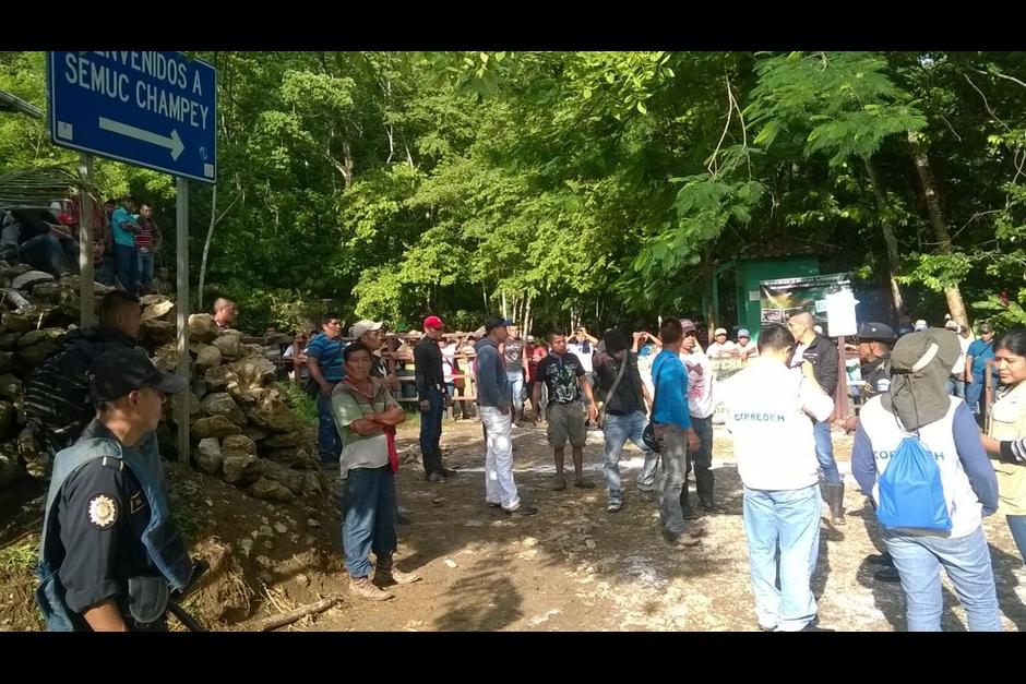 Los pobladores habían ocupado el parque exigiendo el pago que les corresponde. (Foto: Mingob)