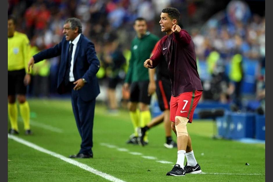 CR7 estuvo alentando a sus compañeros desde el banquillo. Portugal ganó su primera Euro de su historia. (Foto: Agencias)