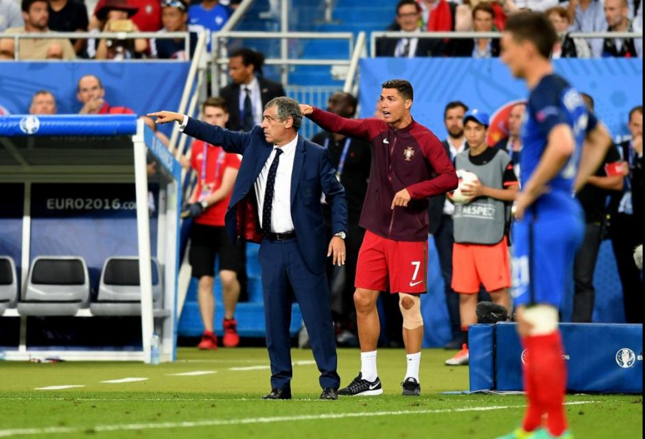 Durante el tiempo extra Cristiano Ronaldo vivió el partido como el propio técnico. (Foto: Agencias)