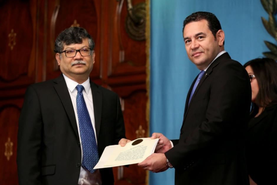 En esa actividad recibió las cartas credenciales de varios embajadores. (Foto: Gobierno)