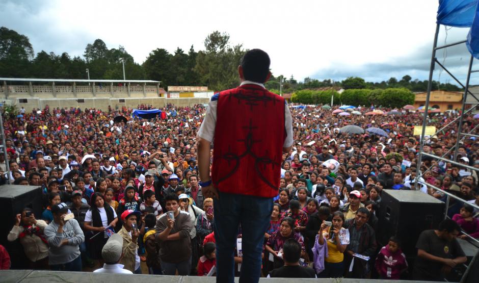 El actual Presidente visitó el interior del país durante la campaña. (Foto: Wilder López/Soy502)