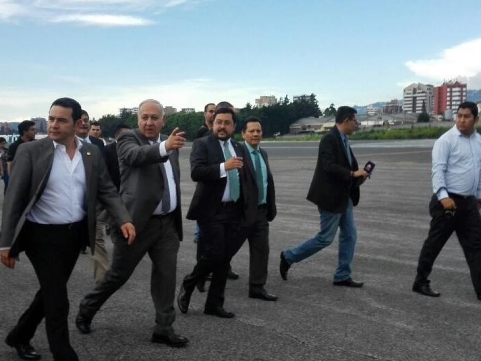 Inauguraron la sala de vuelos nacionales y pasearon por la pista de rodaje. (Foto: DGAC)