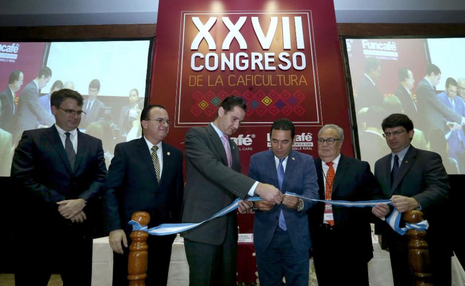 La confirmación del análisis lo hizo durante la inauguración del Congreso de Caficultura. (Foto: AGN)