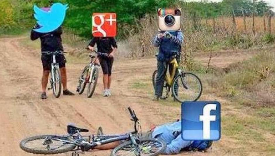 En las otras redes se rieron de la caída. (Foto: Twitter)
