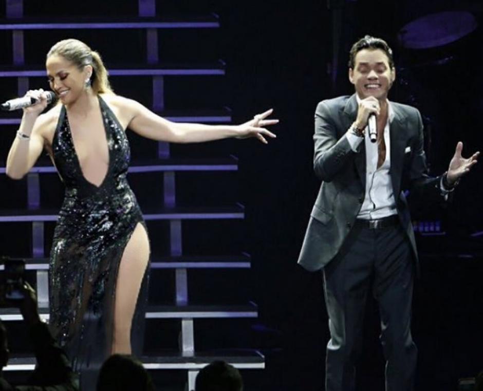 El dueto sorprendió a los seguidores de Marc Anthony. (Foto: Instagram)