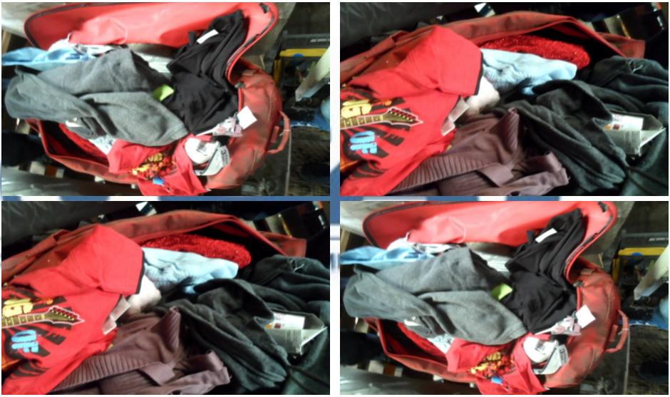 Entre los artículos subastados aparecen electrodomésticos, ropa, zapatos, etc. (Foto: SAT)