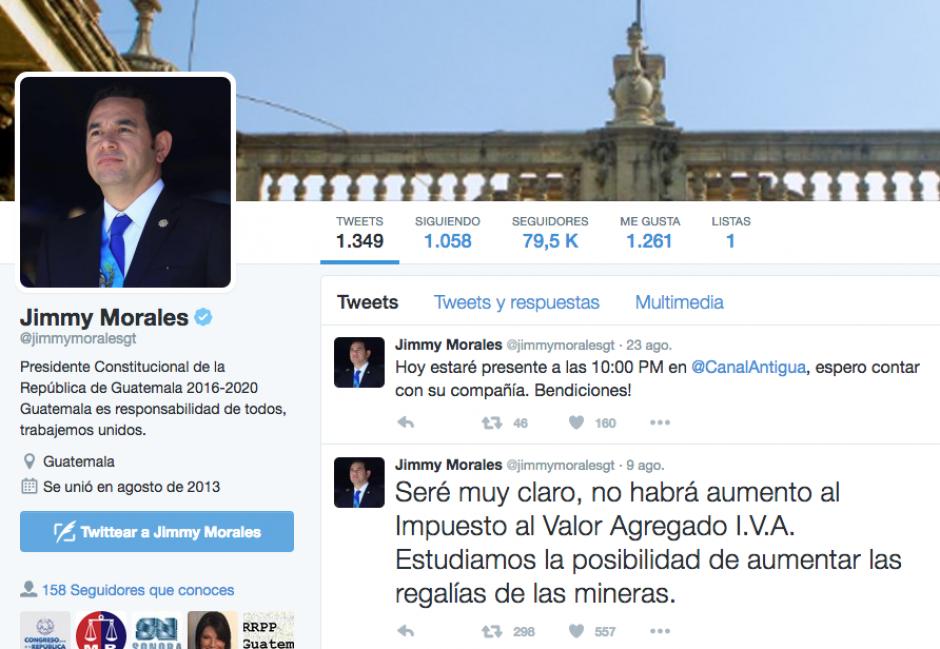La cuenta de Twitter oficial también se muestra sin actividad. (Foto: Soy502)