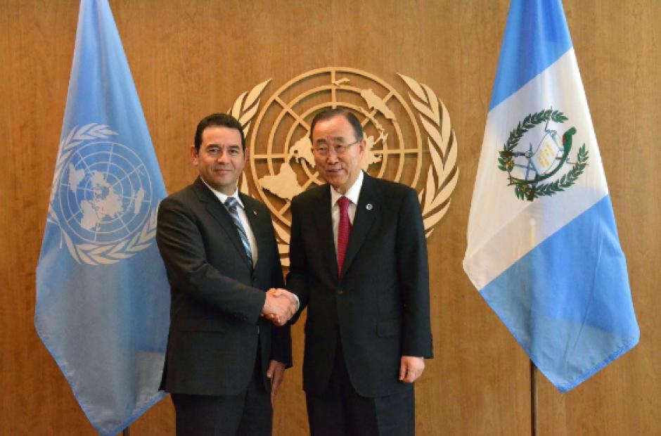 Anteriormente, Morales se reunió con el Secretario General de la ONU. (Foto: Gobierno)
