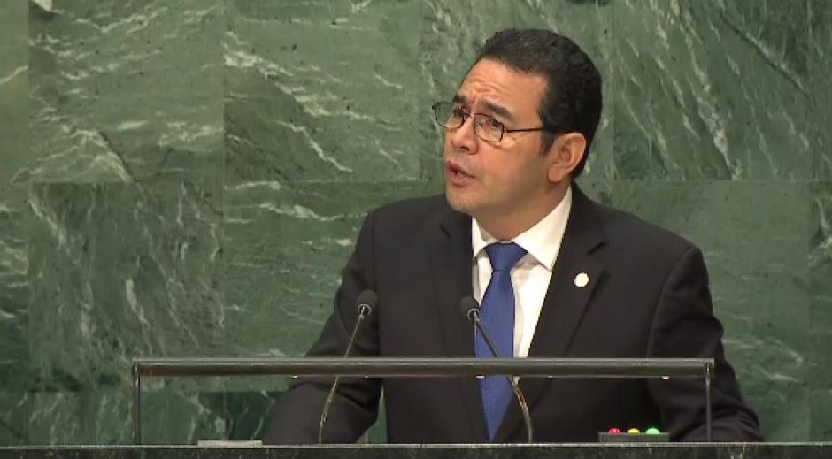 El presidente criticó la relación con Belice en su discurso. (Foto: ONU)