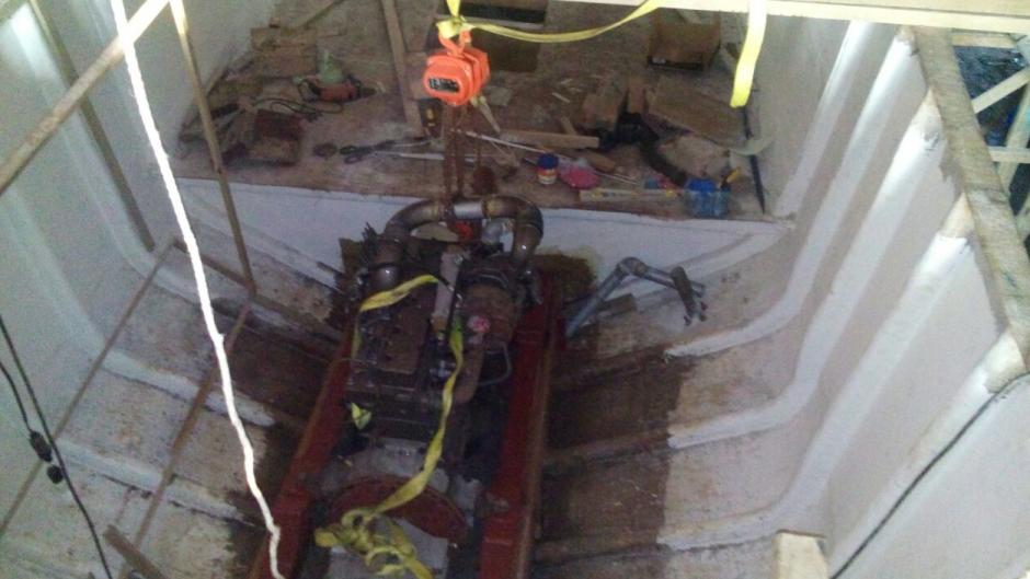 El sumergible fue localizado en una finca en Santa Rosa. (Foto: PNC)