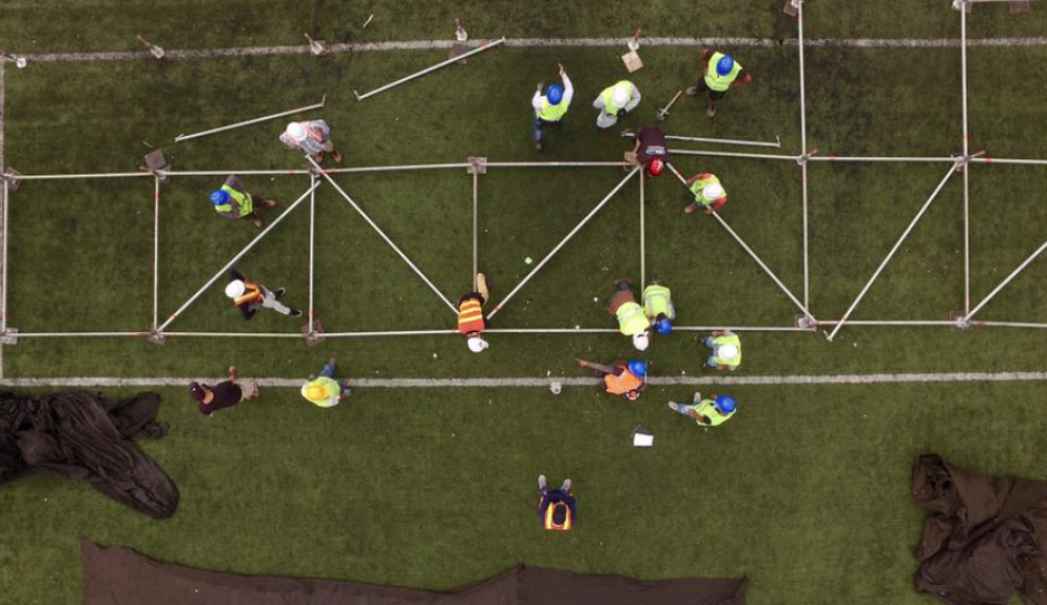 La promotora Guate Eventos ha compartido estas imágenes aéreas. (Foto: Facebook)