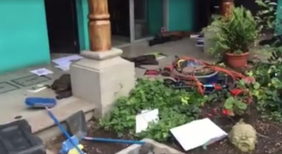 Juan Pablo Romero grabó un vídeo para denunciar lo ocurrido. (Foto: Facebook)