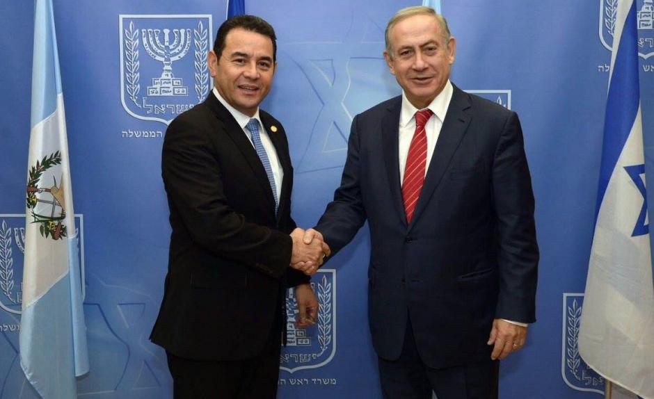 Israel se comprometió a ayudar a Guatemala con cooperación financiera y tecnológica. (Foto: Gobierno)