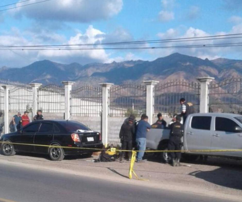El operativo se desplegó en el kilómetro 166 de la ruta a Esquipulas. (Foto: MP)