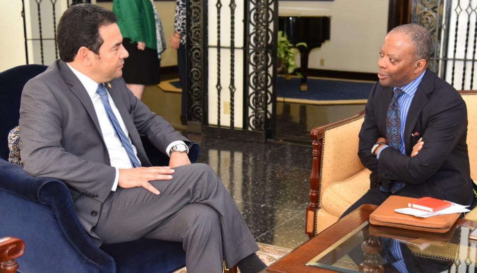 El Presidente señaló que continúa el seguimiento a las reformas. (Foto: Embajada de EEUU)