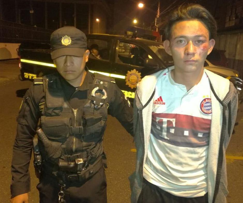 La PNC detuvo a Jesús Armando Orellana Corado por haber atacado a un taxista. (Foto: PNC)