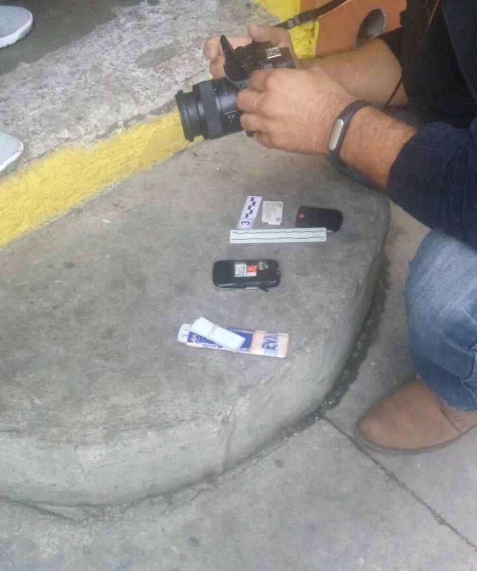 """La detención se realizó en ña 31 avenida """"B"""" y 25 calle de la zona 7. (Foto: PNC)"""