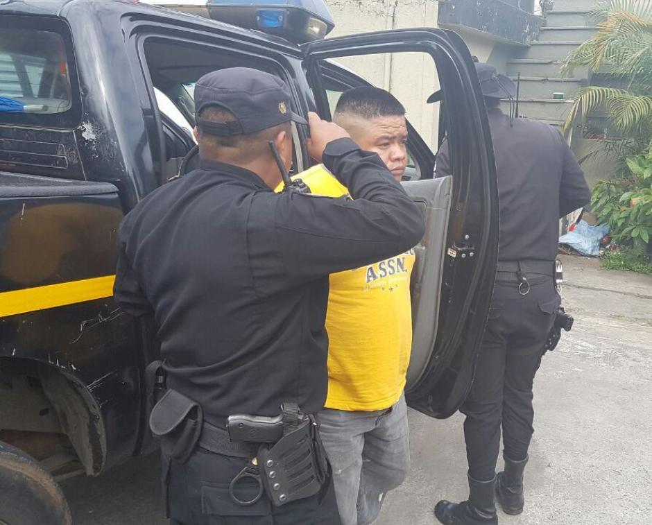 El detenido era el conductor del taxi. (Foto: PNC)