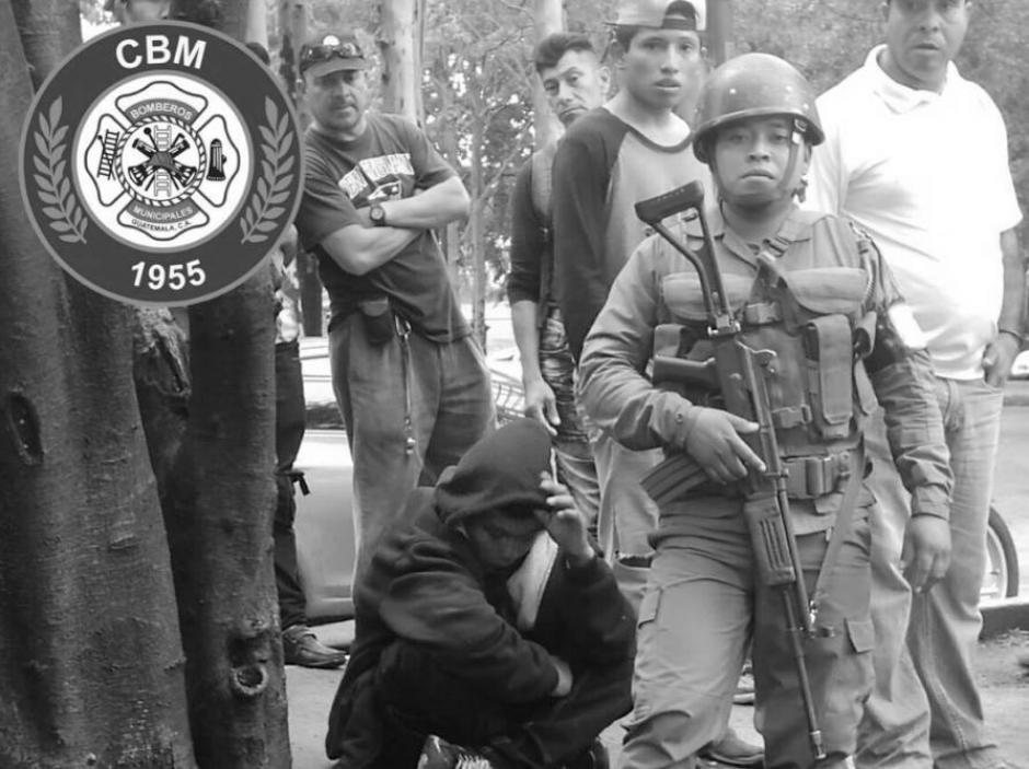 Heridos los detenidos fueron atendidos por los Bomberos Municipales. (Foto: Bomberos Municipales)
