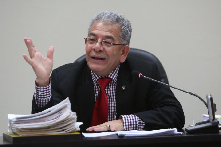El juez Miguel Ángel Gálvez terminó la audiencia a las cuatro de la tarde. (Foto: Jesús Alfonso/Soy502)