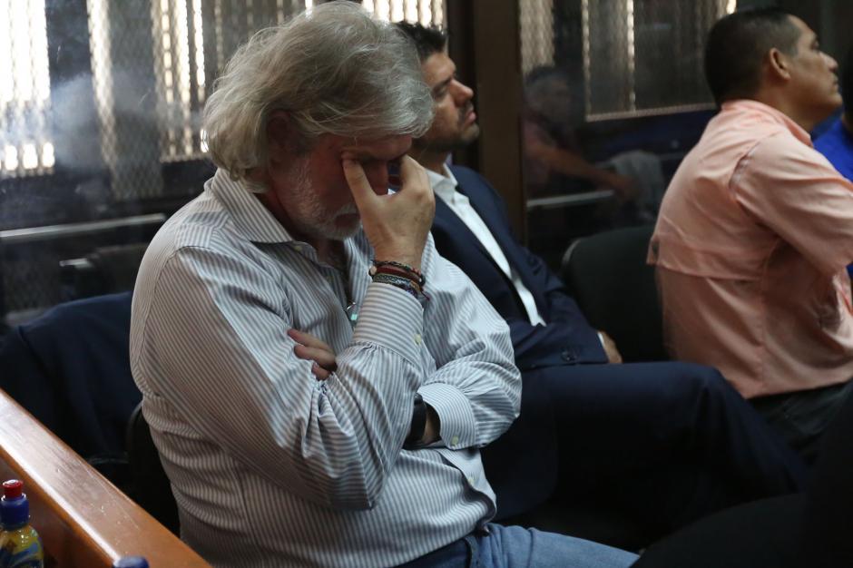 Juan José Suárez se quedo dormido mientras el MP reproducía un audio. (Foto: Jesús Alfonso/Soy502)