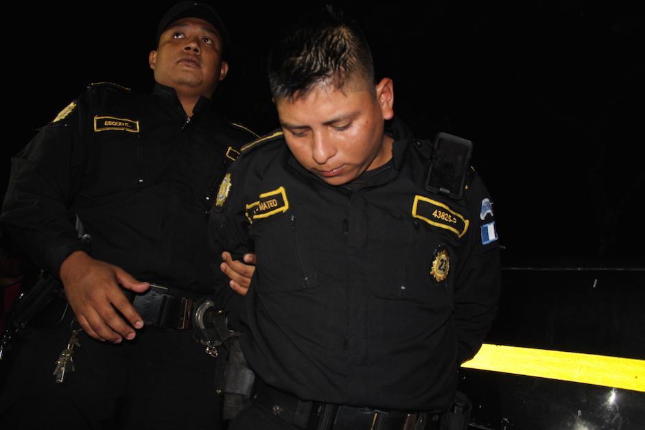 El agente Selvin Antonio Vásquez Mateo es uno de los capturados. (Foto: Joaquín Álvarez/Nuestro Diario)