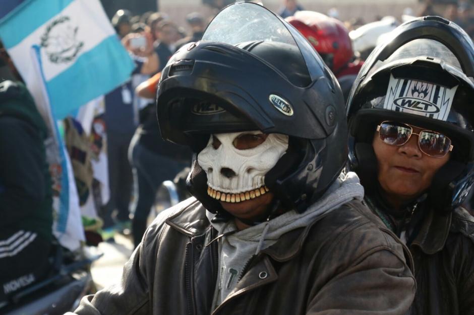 Las máscaras también fueron parte de la Caravana del Zorro. (Foto: Alejandro Balán/Soy502)