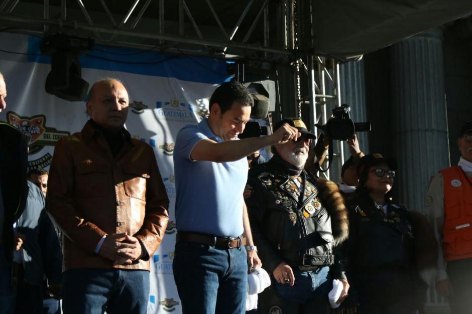 El presidente de la República, Jimmy Morales, asistió a dar el banderazo de salida.  (Foto: Alejandro Balán/Soy502)
