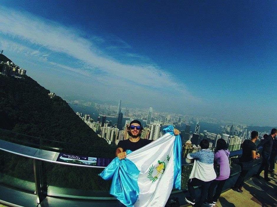 Con orgullo puso el nombre de Guatemala en alto. (Foto: Carl Nunes)