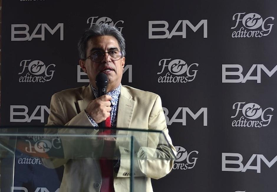 Raúl Figueroa Sarti, director de F&G Editores habló del concurso. (Foto: Selene Mejía/Soy502)