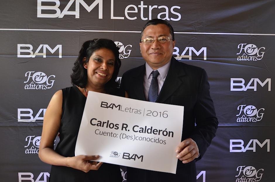 Carlos Calderón del Cid ganó el Certamen Nacional de Cuento BAM Letras. (Foto: Selene Mejía/Soy502)