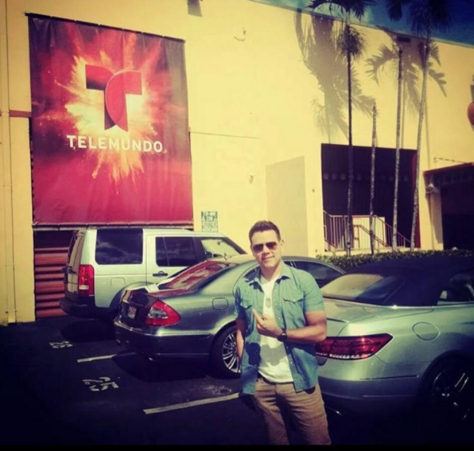 Guerrero se encuentra en Telemundo Miami en la grabación del proyecto. (Foto: Carlos Guerrero)