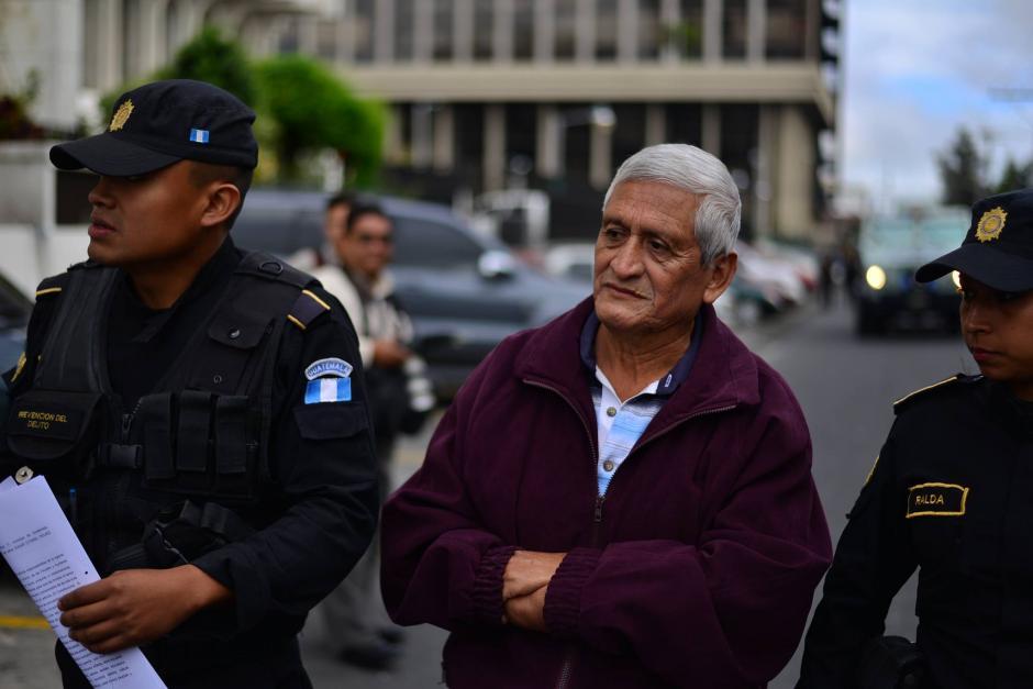Carlos Humberto Rodríguez López de 67 años de edad, otro de los capturados esta mañana. (Foto: Wilder López/Soy502)