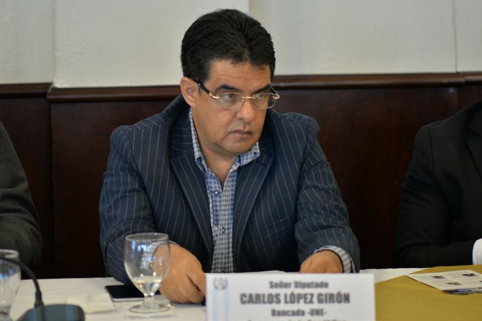 El diputado Carlos López Girón no llegó este miércoles al Congreso. (Foto: Archivo/Soy502)