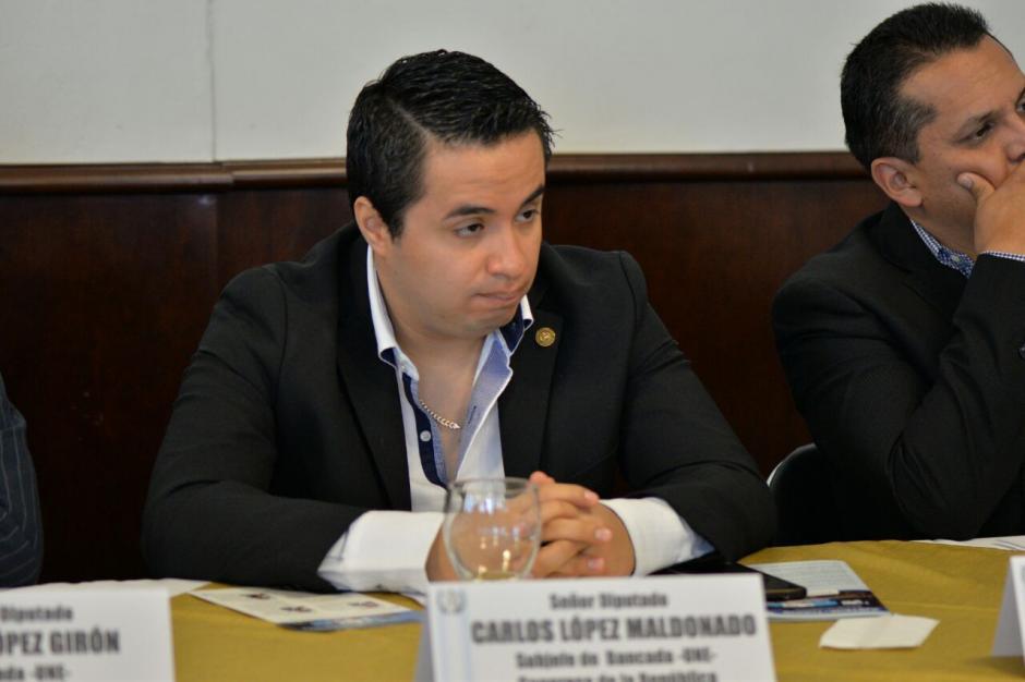 El hijo de Carlos López Girón, Carlos López Maldonado, también estuvo en la reunión. (Foto: Wilder López/Soy502)