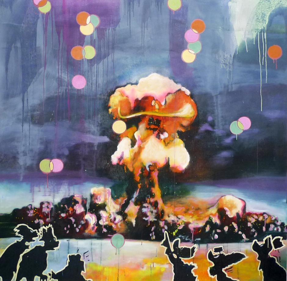 El artista guatemalteco Carlos Pérez reside en Austria desde hace 11 años. esta pieza es Desert Flower. (Foto: Carlos Pérez)