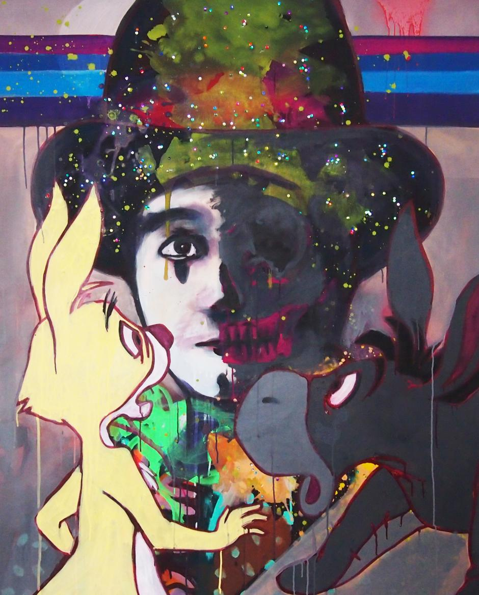El colorido en su obra representa a latinoamérica. (Foto: Carlos Pérez)