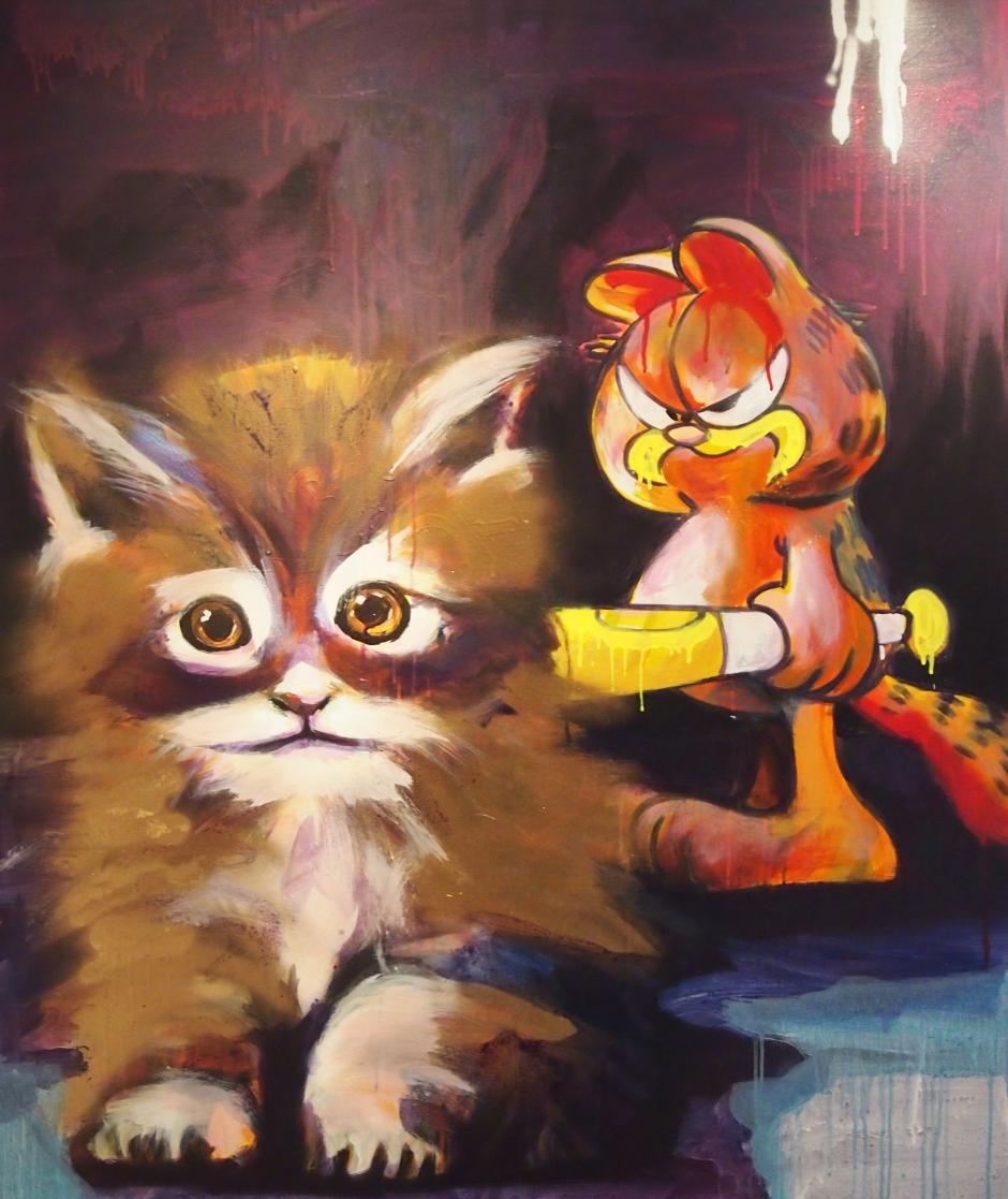 """""""Garfield"""" es el nombre de esta pieza. (Carlos Pérez)"""