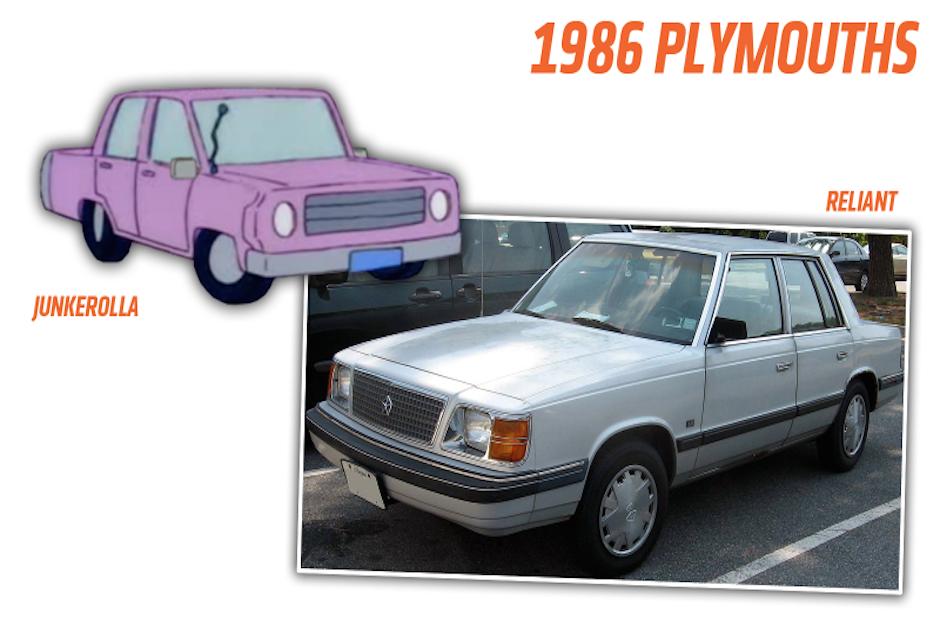 Esta es la comparación entre el vehículo de la serie y uno de la vida real. (Imagen: Jalopnik)