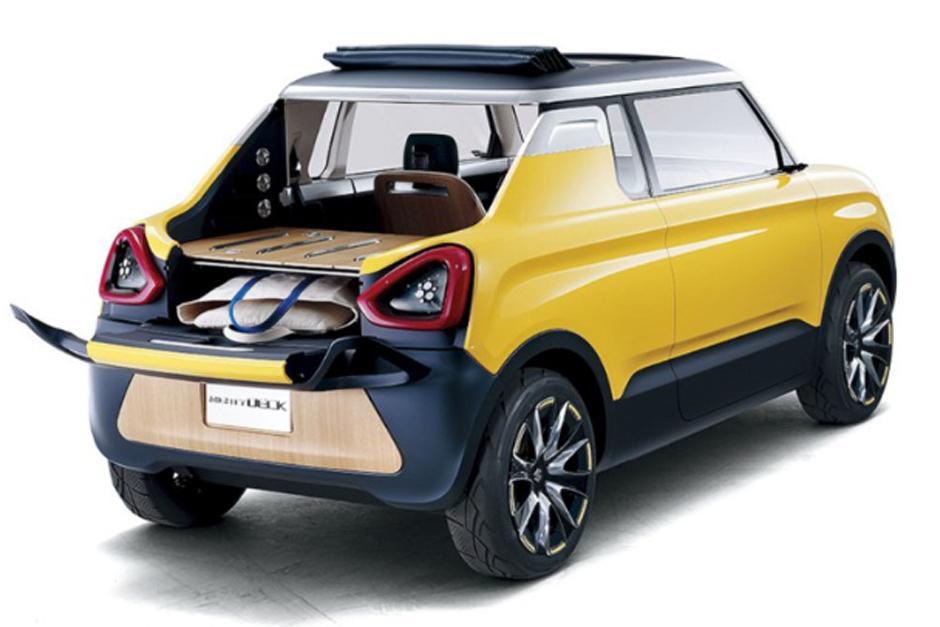 Suzuki Mighty Deck, es un mini auto oriental con un techo de lona y un cajon trasero. (Foto: Suzuki)