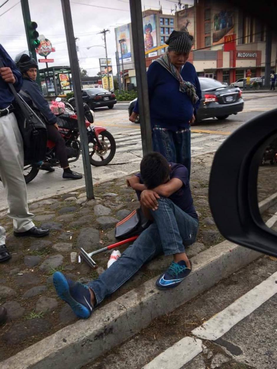 El incidente se registró en la zona 9 capitalina. (Foto: Facebook/ Ana Florencia Moguel)