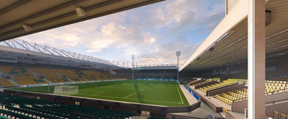 El estadio Carrow Road (Norwich City, Barclays Premier League).(Imagen: Electronics Arts)
