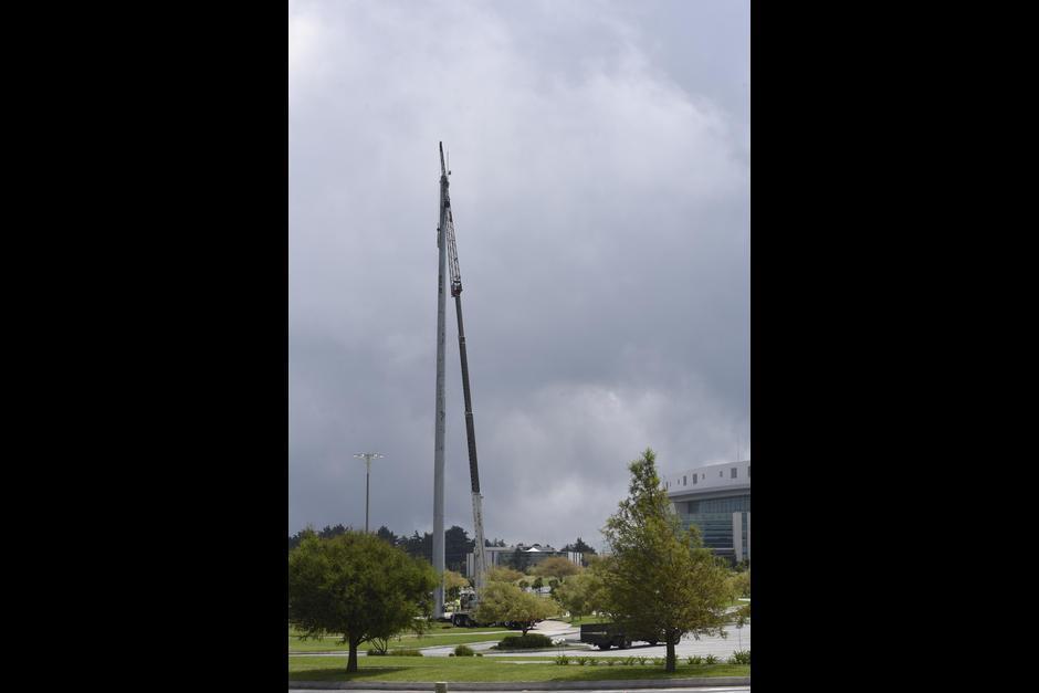 Luego de que mencionaran a Casa de Dios, la bandera fue retirada. (Foto: Archivo/Soy502)