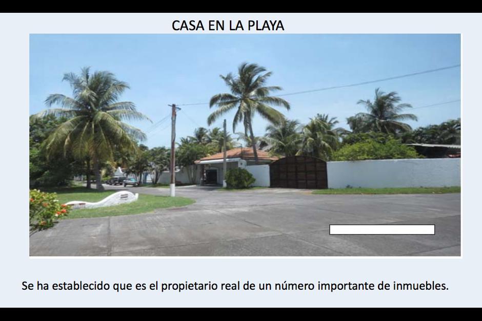Este es uno de los inmuebles ubicado en Costa Linda. (Foto: CICIG)