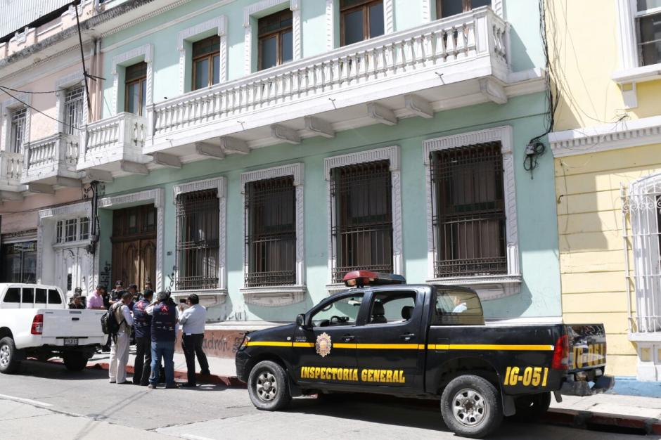 Aparentemente la diligencia es por una denuncia en contra de Joviel Acevedo. (Foto: Alejandro Balán/Soy502)