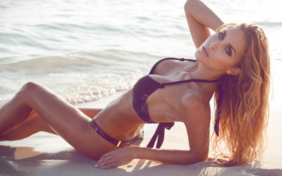Ann Kathrin Brommel es la encantadora novia de Mario Götze. (Foto: caughtoffside.com)
